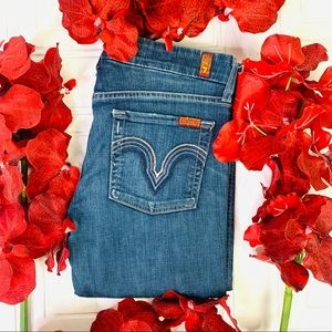 HOST PICK 7 for all mankind straight blue jeans